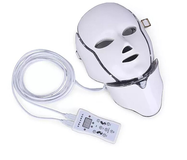 Hot new product IPL light therapy Skin rejuvenation led neck mask with 7 colors for home use free shipping