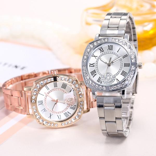 Moda Roman Scale Square Relojes Laides Luxury Dress Reloj de pulsera Mujer Gold Pulsera Reloj de cuarzo Bayan Kol Saati