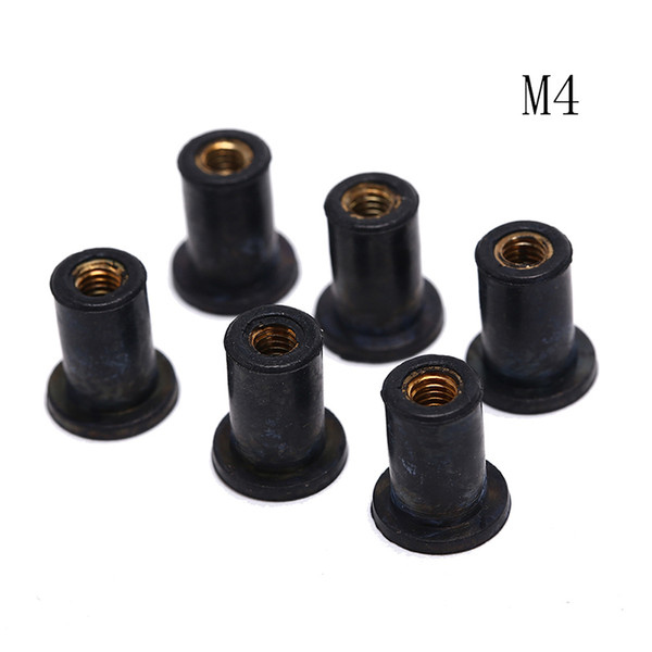 6pcs Black Rubber M4 Well Nuts Kayak Accessories Blind Fastener Rivet Fishing Kayak Accessories Jack Nuts Windscreen Wellnuts