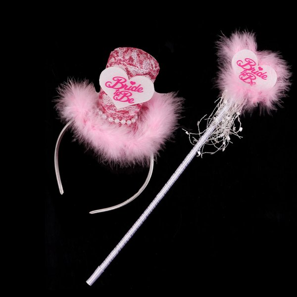Bride to be lovely top hat wand set featured design for wedding hen bachelorette party mariage event supplies team bridal shower