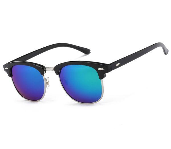 Mezzo metallo occhiali da sole di alta qualità uomo donna occhiali di marca occhiali da sole specchio moda occhiali moda occhiali da sole oculos de sol uv400 classic