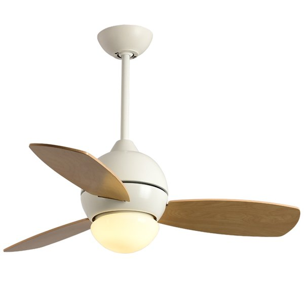 Modern simple macaron Colorful Ceiling Fan LED Fans For Living Room Cooling cute with Reverse Switch Ceiling Fans With Lights