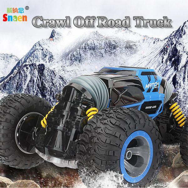 Uzaktan Kumanda Elektrikli Tarama Kapalı Yol Kamyon Yüksek Hızlı Yarış Tırmanışı RC Araba 2.4G 4WD Canavar Araç, bir Anahtar Dönüşümü