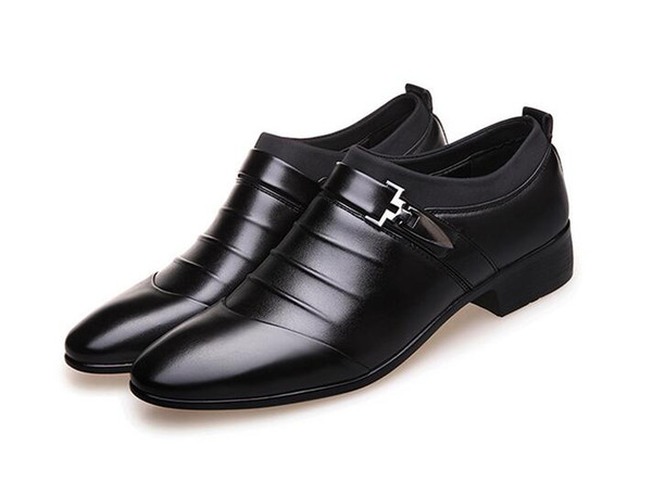 De lujo de cuero para hombre zapatos formales zapatos de moda Oxford Business Design Oxford zapatos de boda para hombre 1h63