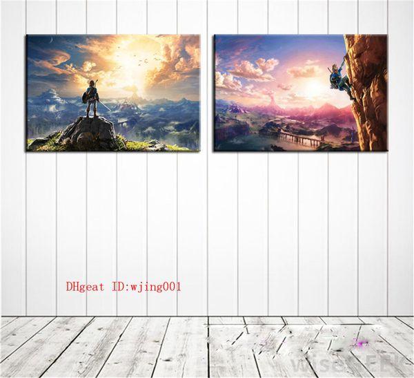 The Legend of Zelda Respiro del selvaggio, pezzi di tela Home Decor HD Stampato Pittura di arte moderna su tela (senza cornice / con cornice)
