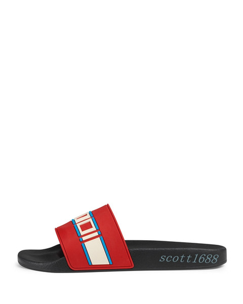 fashion white cream rubber slide sandals flip flops mens and womens unisex causal beach flats slippers