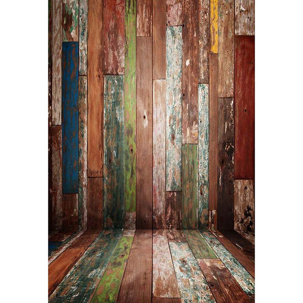 Rustic Wood Background for Photo Studio Newborn Baby Shower Props Wooden Planks Wall Floor Kids Photography Backdrops Vinyl