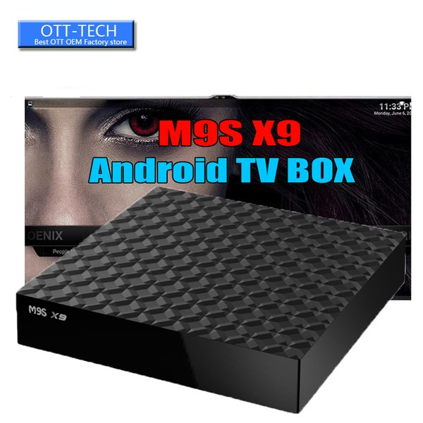 M9S X9 RK3229 Chipset Android TV Box Android 6.0 Lollipop OS Smart OTT Boxes Quad Core 1G 8G 4K Google Media Players Better MXQ PRO 4K S905W