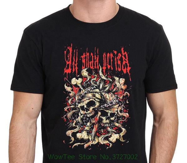 Tüm Shall Perish Band Metal Müzik erkek T-shirt Siyah Beden S - Xxl Erkek Gömlek Kısa Kollu Trend Giyim