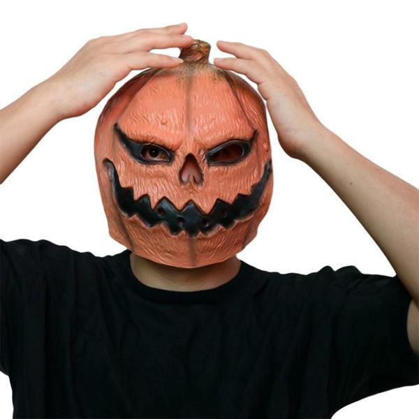 Máscara de calabaza de látex de Halloween caliente Cos Ghost Pumpkin Headgear Spoof Juego cráneo máscara envío de la gota