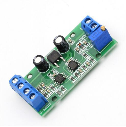 Free shipping! 1pc/lot Frequency Voltage Converter 0-10KHz to 0-10V Digital to Analog Voltage Signal Convertion Module