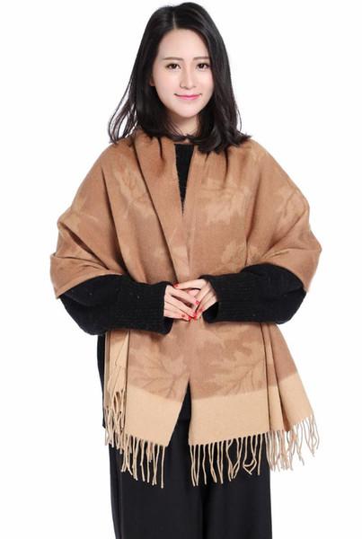 Size 70x180cm Autumn Winter Scarf Scarves Women Warm Mujer Bufanda 100% Real Wool Wrap   Muffler Chal Cape