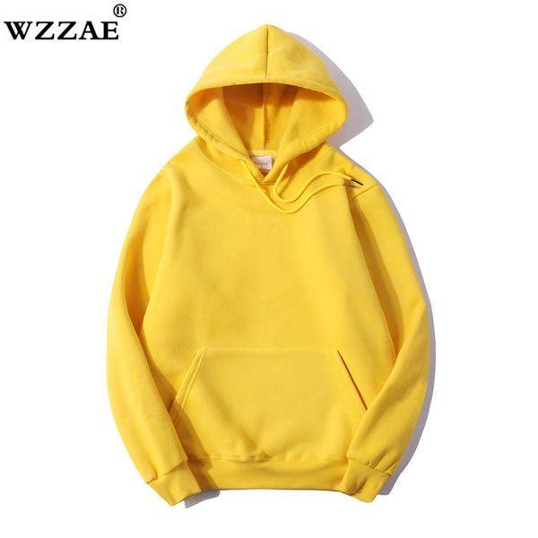 2017 Winter Fleece Solid Basic Hoodies Men Casual Sporting Hombre Sudaderas Cálido 100% Algodón Hoody Hombres Negro Gris Rosa Caqui
