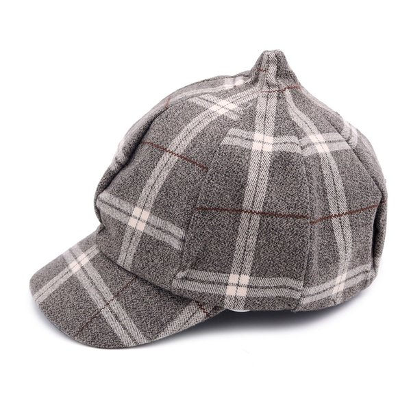 63cb7b655ec73 Casual Parent-child Beret Hats Unisex Adult Plaid Vintage Men Hat And 3 To  10 Years Old Children Cute Caps New Arrival YWMQFUR
