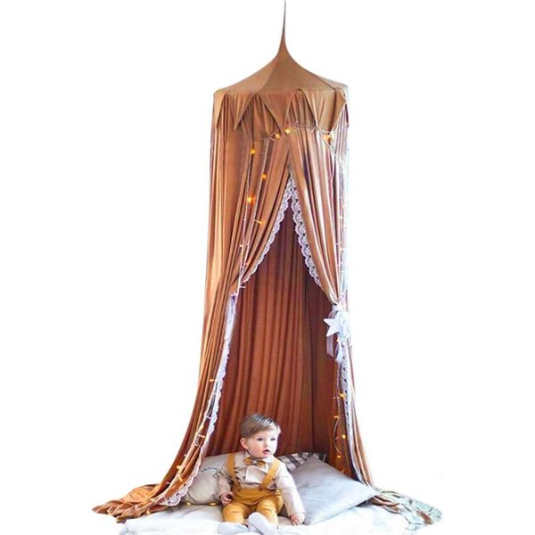 Mosquito Net Baby Bedding Hanging Round Dome Bed Canopy Bedcover Mosquito Net Curtain Home Bed Crib Tent Hung Dome 3