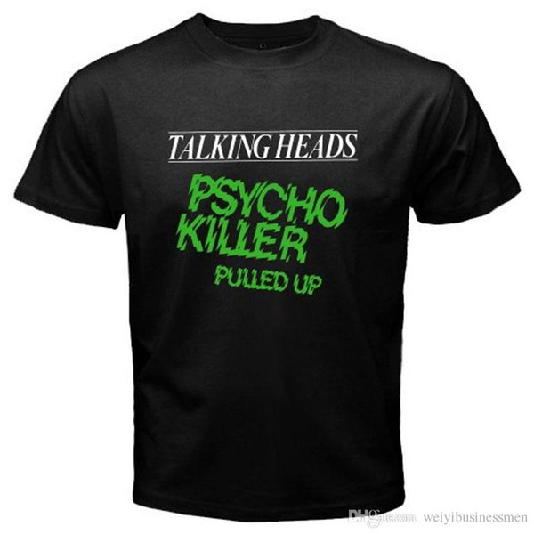 Awesome Shirts Short New Talking Heads Psycho Killer Rock Band Mens Black T-Shirt Size S to 3XL Men Top O-Neck T Shirt