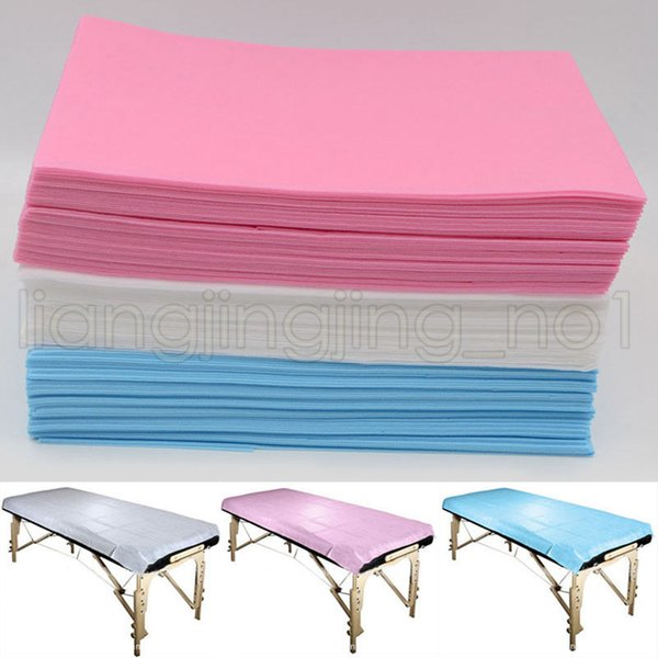 80*180cm Disposable Medical Non-Woven Beauty Massage Salon Hotel SPA Dedicated Bed Pads Cover Sheet 3 Colors AAA628