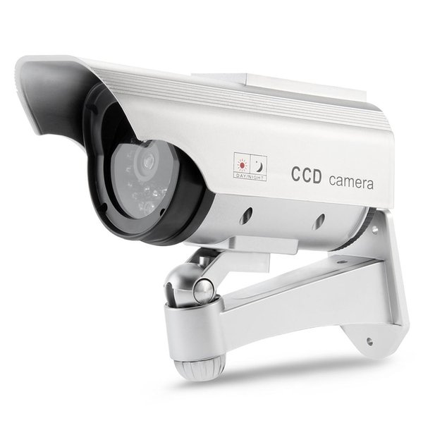 SUNLUXY Камера Солнечная батарея Powered Flicker Blink Красный светодиодный поддельный закрытый наружный охранный видеонаблюдение CCTV