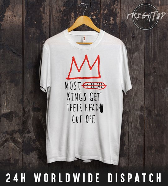 Most Young Kings Get Their Head Cut Off T Shirt Top Jay Z Snoop Dogg 2Pac  NWA 100% Cotton Casual Printing Short Sleeve Men T Shirt O Neck Best