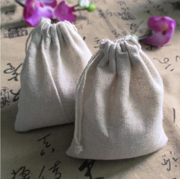 """Small Linen Gift Bags 8x10cm (3""""x4"""") Baby Shower Birthday Party Wedding Favor Holder Necklace Bracelet Jewelry Packaging Pouch"""
