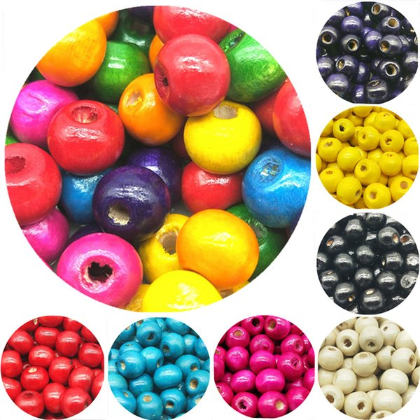 best selling 100pcs lots 8MM DIY Handmade Round Wood Ball Bead for for Jewelry Making Bracelet Necklace Accessories