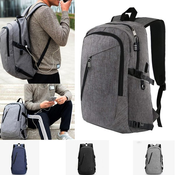 High Quality Business Laptop Backpack with USB Charging Port fits 15.6 inch Laptop School travel bag for Men or Women
