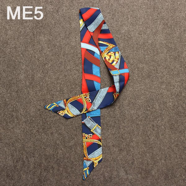 Color Stitch Original abstrait bord de mer portant mode foulard en soie femmes marque foulard tête sac à main longues écharpes cravate accessoires