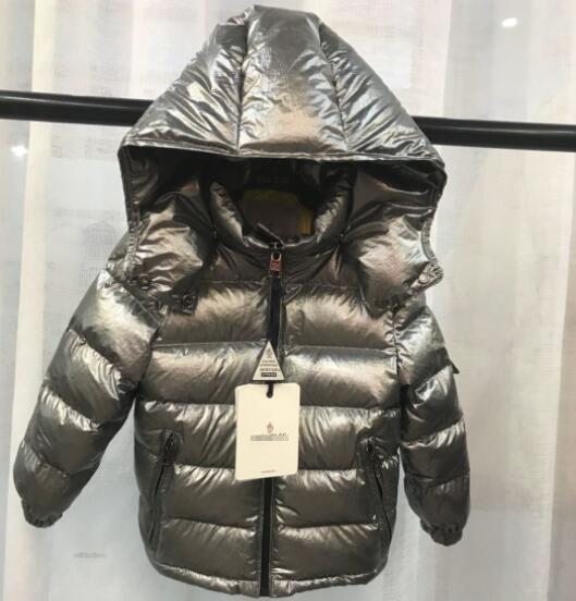New zipper hirt ilver winter new boy and girl thickening hooded down jacket big children warm jacket zhu
