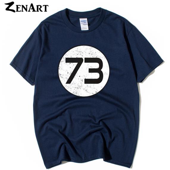 perfetto numero 73 settantatré sheldon man boys o-collo plus size t-shirt manica corta