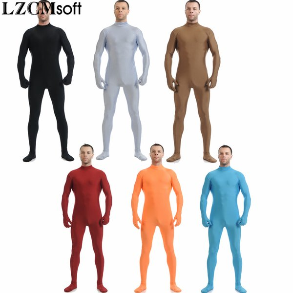 LZCMsoft 22 Cores Unisex Lycra Spandex Zentai Sem Mangas Pele Collants Catsuits Para Mens Corpo Inteiro Festa de Halloween Zentai trajes