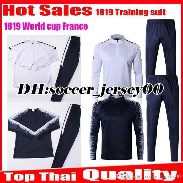 2018 2019 traje de entrenamiento kits de chándal chaqueta francia pogba fútbol Jersey Copa del mundo 18 19 PAYET DEMBELE MBAPPE GRIEZMANN KANTE fútbol