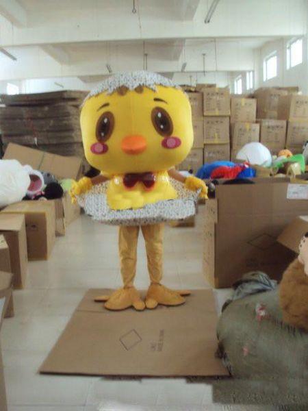 2018 Hot vente nouveau petit poulet jaune en peluche Cartoon Cartoon Costume mascotte Produits personnalisés personnalisés En gros LIVRAISON GRATUITE