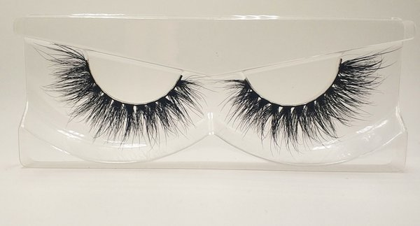 3D Mink False Eyelashes 100% Mink Fur Long Thick Hand-made Reusable Eyelashes Natural 1 Pair Pack MTL039