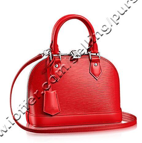 Alm Bb Coquelicot Red C Leather M41160 Women Handbags Shoulder Messenger Totes Iconic Cross Body Bags Top Handles Clutches Evening