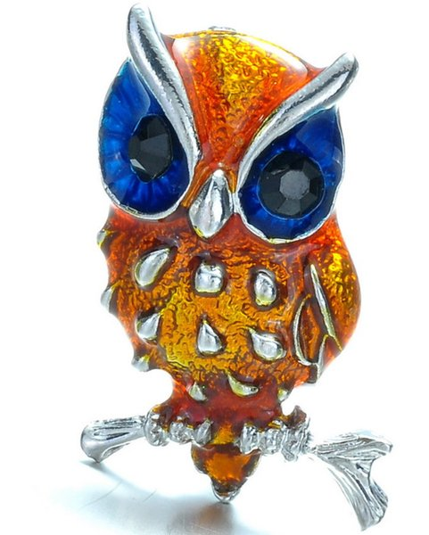 Fashionable small owl alloy brooch manufacturers supply wholesale anchor