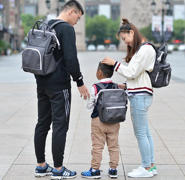 top popular 3 Color Multifunctional Mommy Backpacks Nappies Bags Diaper Bags Backpack Maternity Large Capacity Outdoor Travel Bags BG02 2021