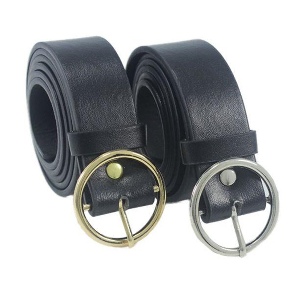 punk belt Round Metal Circle Belts Hot Designer Brand Punk O Ring leather belts for women T6