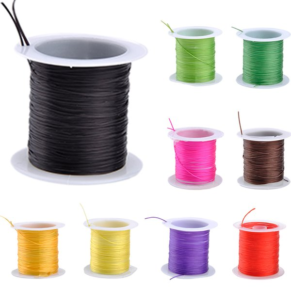 10M/Roll 0.6 MM Colorful Stretchy Elastic Rope Cord Crystal String For Jewelry Making Beading Bracelet Wire Fishing Thread Rope