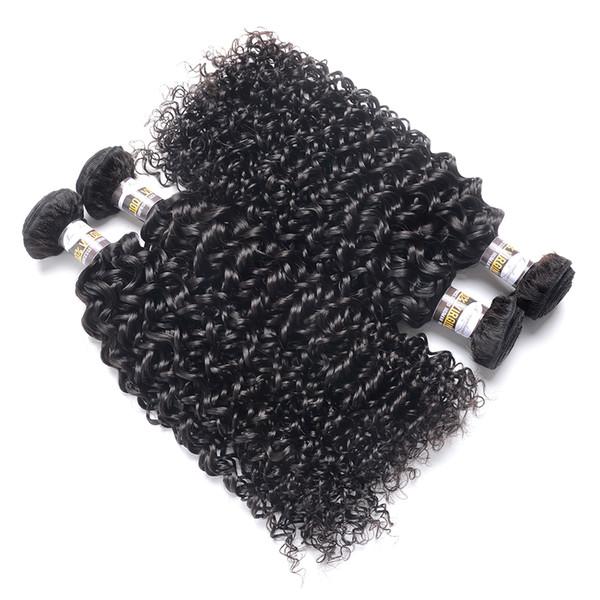 10a Kinky Curly Hair Kinky Curly Bundles 100% Remy Extension de Cheveux Humains 10-28 Pouces Couleur Naturelle