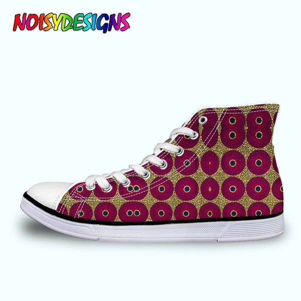 African Style Patterm Print WoWomen's Canvas Shoes Fashion Lace-up Vulcanize Shoes for Girls Students Summer Sneakers Ladies
