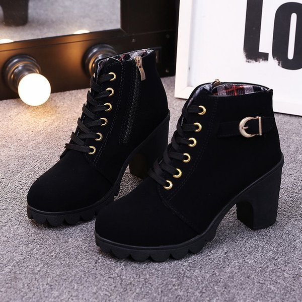 Classic Style Ladies Shoes Boots For Winter Autumn Womens Ankle Martin Boots Short Boots With Heels Zx687 Designer Shoes Rain Boots For Women From