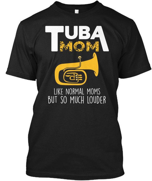 Grande regalo Tuba Mom Marching Band Tees Maglietta senza tag T-shirt all'ingrosso senza tag