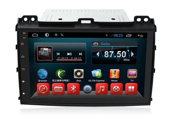 Quad Core 1024*600 HD Screen Android 6.0 Car DVD GPS Navigation Player for Toyota Prado 2008 Radio Bluetooth Steering Wheel Control