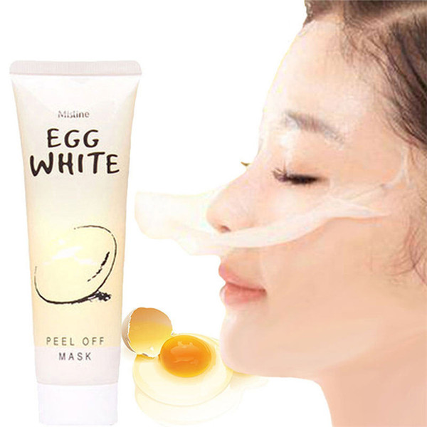 Thailand Egg White Peel Off Face Mask Collagen Blackhead Remover Moisturizing Beauty Products Facial Mask 85g Free DHL 300pcs