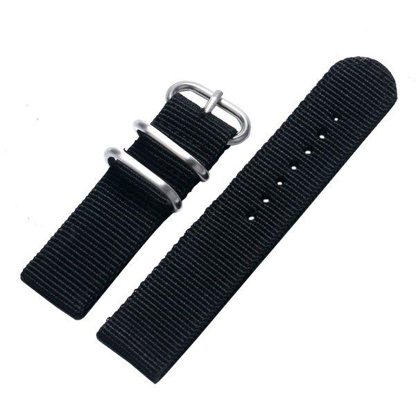 20/22MM Canvas Black Blue Green Watch Band Strap Wrist Watches Band for Women Men Watch