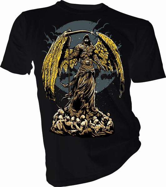 Anjo da Escuridão, Crânio, Horror, Dia das Bruxas Adulto Crianças T-Shirt 100% algodão tee shirttops atacado tee