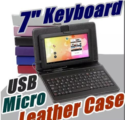 "factory supply Universal 9 inch 7"" PU leather case keyboard with Micro USB cover case for 9 inch Android Tablet PC"