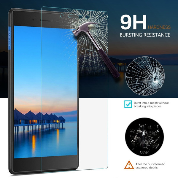 top popular 9H Screen Tempered Glass For 2017 Lenovo Tab 7 Essential TB-7304F Protector TB 7304F 7304 7304I 7304X 7.0 inch Tablet Film Guard 2019