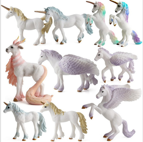 Heavenly horse Unico Wild simulation ocean mode Model Cute Animals Gifts girl Toys Hobbies Kids Plastic animals action Figures Toy baby gift