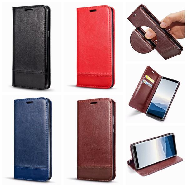Suck carteira de couro case para iphone x 10 8 7 plus 6 6 s se 5 nota galaxy 9 8 s9 fecho magnético de luxo slot para cartão de identificação telefone flip capa híbrida